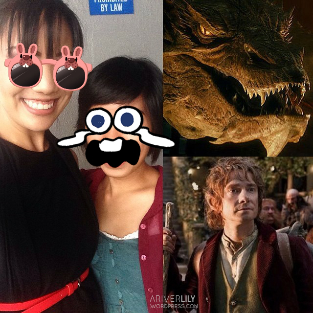 Smaug and Bilbo, The Hobbit - aillis line app