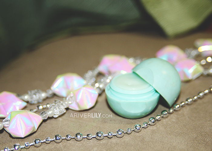 Empties, Pans, Retired - Eos Smooth Sphere Lip Balm Sweet Mint moisturizing vitamin E empty