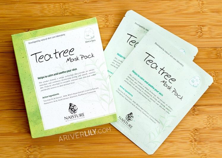 Naisture Tea Tree Mask Pack sheet mask review - boxes