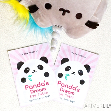 Tony Moly Panda's Dream Eye Patch review - Korean skincare kbeauty Asian beauty bamboo extract niacinamide face sheet mask black Pusheen Pusheenicorn