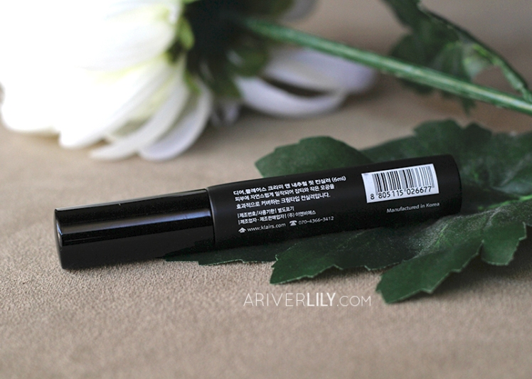 Dear Klairs Creamy and Natural Fit Concealer - label