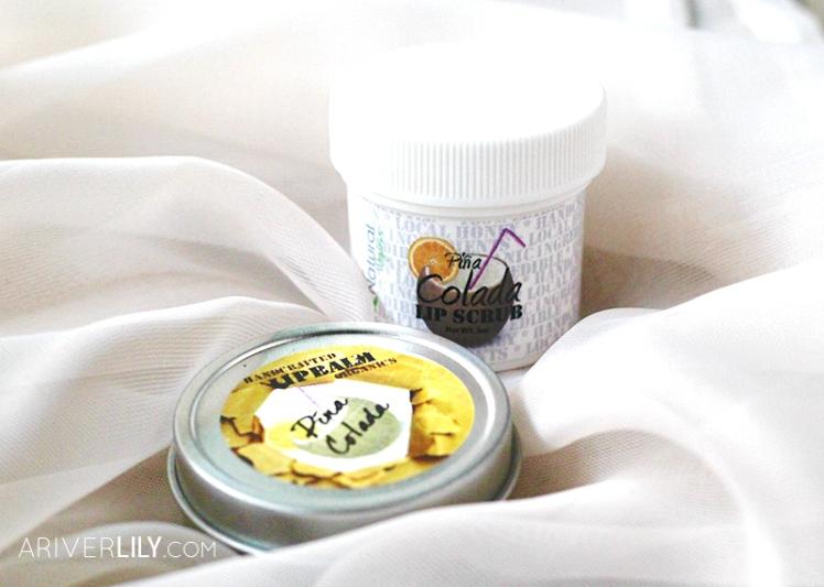 IQ Natural Skincare Lip Care Kit Balm Scrub Organic Honey Pina Colada Pineapple Flavor