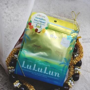 Hawaii LuLuLun Plumeria Face Mask sheet review - kukui nut oil