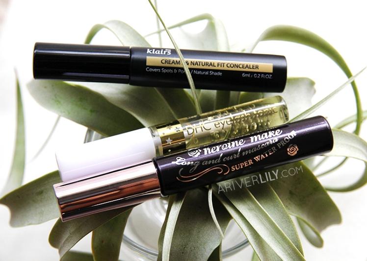 asian beauty korean japanese skincare makeup routine klairs concealer mochi bb DHC eyelash serum heroine make long and curl mascara